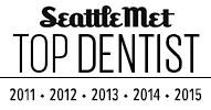 Top Seattle Met Dentist Badge, Award, and Logo