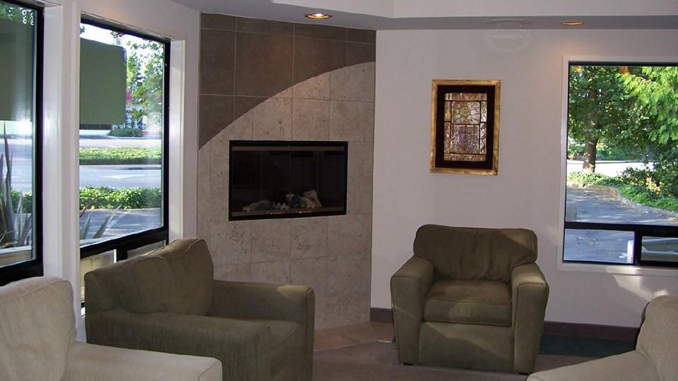 The lobby of Brookside Dental in Bellevue