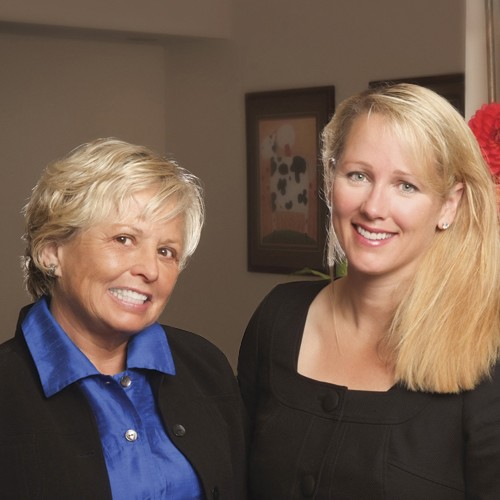 Dr. Cindy, a top dentist in Bellevue, with her mother, also a long time dentist.