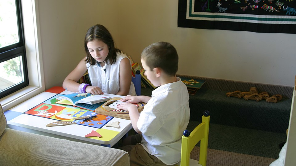 The waiting area for children offers games, toys, and books to keep your child happy while they wait.