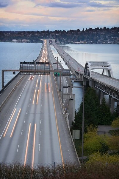 The floating bridge to Eastside