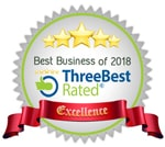 Best Business of 2018 award from ThreeBest Rated
