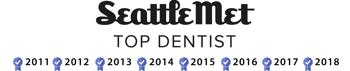 Seattle Met Top Dentist logo - won by Brookside Dental since 2011