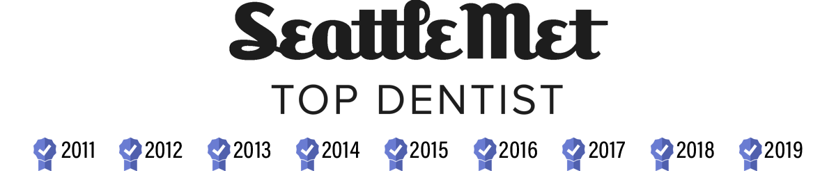 Seattle Met Top Dentist logo - won by our Bellevue dentists at Brookside Dental since 2011